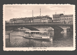 Liège - Le Pont Neuf - Bateau - Salle De Vente Au Pont Neuf - Liege