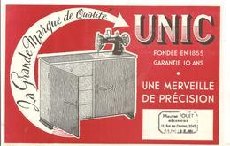 Buvard UNIC La Grande Marque De Qualité UNIC Une Merveille De Précision Offert FOUET à SENS - Textile & Clothing