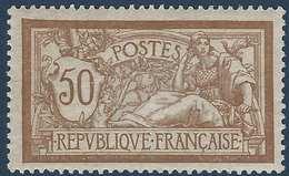 FRANCE Merson  1900 N°120c*, Variété Sans Teinte De Fond Tres Frais Signé Calves - Errors & Oddities