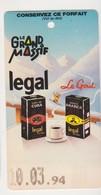 26681 Forfait Grand Massif Flaine -forfait 1994, Café Legal Cuba - Publicité