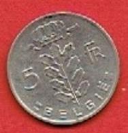 BELGIUM  # 5  FRANCS FROM 1963 - 1951-1993: Baudouin I
