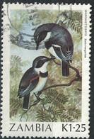 Zambie 1987 Oblitéré Used Oiseau Batis Margaritae - Zambie (1965-...)