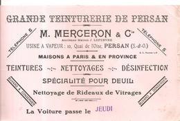 Buvard MERCERON & Cie Grande Teinturerie De PERAN 10, Quai De L'Oise à PERSAN (Seine Et Oise) - Textile & Clothing