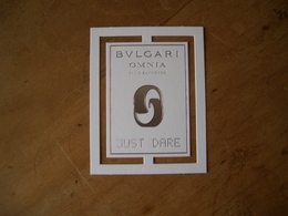 Carte Bulgari Omnia Just Dare - Cartes Parfumées