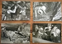 Lot De 9 Cartes Postales / La Mine / Mineurs De Fond / Mines - Mines