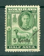 Somaliland Protectorate: 1951   KGVI - Surcharge    SG125     5c On ½a    Used - Somaliland (Protectorate ...-1959)