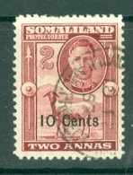 Somaliland Protectorate: 1951   KGVI - Surcharge    SG126     10c On 2a    Used - Somaliland (Protectorate ...-1959)