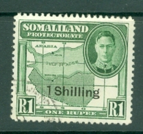 Somaliland Protectorate: 1951   KGVI - Surcharge    SG132     1/- On 1R     Used - Somaliland (Protectorate ...-1959)