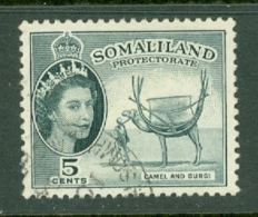 Somaliland Protectorate: 1953/58   QE II - Pictorial    SG137     5c     Used - Somaliland (Protectorate ...-1959)