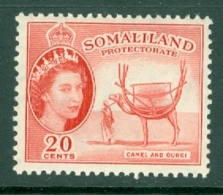 Somaliland Protectorate: 1953/58   QE II - Pictorial    SG140     20c     MH - Somaliland (Protectorate ...-1959)