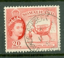 Somaliland Protectorate: 1953/58   QE II - Pictorial    SG140     20c    Used - Somaliland (Protectorate ...-1959)
