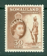 Somaliland Protectorate: 1953/58   QE II - Pictorial    SG141     30c     MH - Somaliland (Protectorate ...-1959)