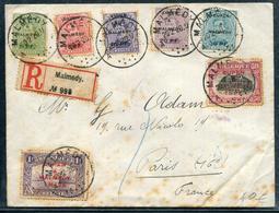 BELGIQUE - EUPEN & MALMEDY N° 1 A 7 / LR DE MALMEDY LE 20/2/1920 POUR PARIS - B - Guerre 14-18