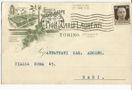 CP0108-CARTOLINA PUBBLICITARIA FABBRICA DI LIME E RASPE TORINO - 1900-44 Vittorio Emanuele III