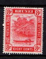 BRUNEI    1947    8c  Scarlet    Perf  14     MH - Brunei (...-1984)