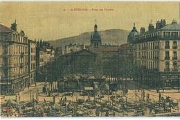 SAINT-ETIENNE   ( 42 )  Place Des Ursulines Le Jour Du Marché     T.B.E. - Saint Etienne