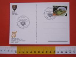 A.01 ITALIA ANNULLO - 2007 VERCELLI 80 ANNI CLUB ALPINO CAI MONTAGNA AQUILA CARD 1 RIFUGIO BARBA FERRERO 1992 BERTONE - Geologia