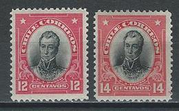 Chile Mi 103, 104, Sc 103, 117 * Mint Hinged - Chili