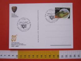 A.01 ITALIA ANNULLO - 2007 VERCELLI 80 ANNI CLUB ALPINO CAI MONTAGNA AQUILA CARD 2 RIFUGIO BARBA FERRERO ALPE VIGNE - Altri