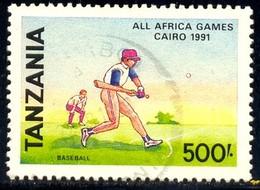 Baseball, All Africa Games, Cairo, 1991, Tanzania Stamp SC#753 Used - Tanzanie (1964-...)