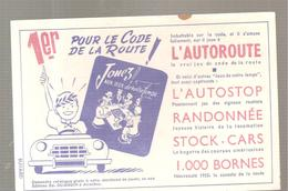 Buvard 1er Pour Le Code De La Route Editions Ed; DUJARDIN (Jouez Aux Jeux De Notre Temps) - Stationeries (flat Articles)