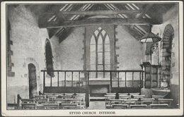 Stydd Church Interior, Lancashire, C.1905-10 - Postcard - England