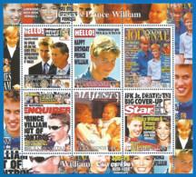 Prince William - Mint Miniature Sheet - Private Issue - Vignettes De Fantaisie
