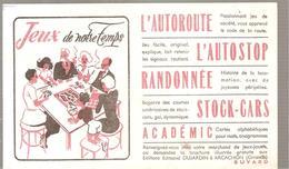 Buvard Jeux De Notre Temps Editions Ed. DUJARDIN - Stationeries (flat Articles)