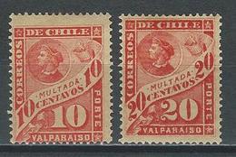 Chile Mi P15, 16, Sc J24, 25 *  Mint Hinged - Chile