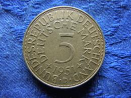 GERMANY 5 MARK 1951D, KM112.1 - [ 7] 1949-…: BRD