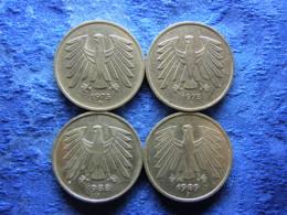 GERMANY 5 MARK 1975DG, 1988J, 1989J, KM140.1 - 5 Mark