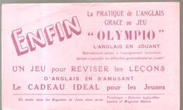 Buvard OLYMPIO La Pratique De L'anglais Grace Au Jeu OLYMPIO L'anglais En Jouant - Stationeries (flat Articles)