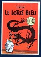 Les Aventures De Tintin. Le Lotus Bleu.( Castermann, Paris-1981, Dessin Hergé).  1987 - Bandes Dessinées
