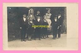 CARTE PHOTO Enfants En  Costume Breton - Bretagne