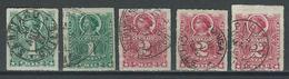 Chile Mi 18, 19, Sc 25, 26 O Used Selected Postmarks - Chili