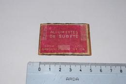 Allumettes De Sureté Régie Française Seita - Boites D'allumettes - Etiquettes