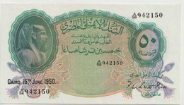 EGYPT  P. 21d 50 Ps 1950 UNC - Egypte