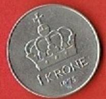 NORWAY # 1 KRONE FROM 1975 - Norvège