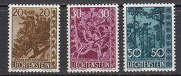Liechtenstein 1960 Heimatliche Bäume 3v ** Mnh (41694G) - Liechtenstein