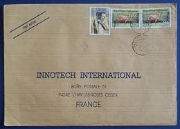 1992 Covers, Gabon - Innotech L'Hay Les Roses France, Ivory Coast, Par Avion - Gabon (1960-...)