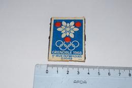 Grenoble 1968 Xème Jeux Olympiques D'Hiver Seita - Boites D'allumettes - Etiquettes
