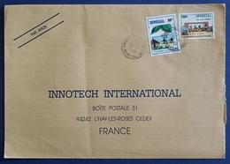 1992 Covers, Senegal - Innotech L'Hay Les Roses France, Ivory Coast, Par Avion - Sénégal (1960-...)