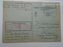 ZA165.25  Hungary  WWII  - Dr. Szepes László  - Kispest -  TP 257-01 Tábori Postai Levelezőlap Légipostával - Covers & Documents