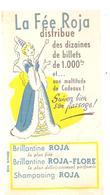 Buvard ROJA La Fée Roja Distribue Des Dizaines De Billets De 1000 Frs Brillantine ROJA - Perfume & Beauty
