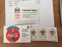 Namibie Namibia Carnet Booklet Coca Cola Avec Timbres Indépendance T - Alimentation