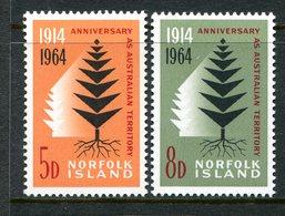 Norfolk Island 1964 50th Anniversary Of Norfolk Island As Australian Territory Set MNH (SG 55-56) - Norfolk Island