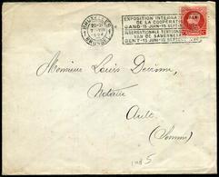BELGIQUE - N° 212 / LETTRE AVEC O.M. DE BRUXELLES LE 7/8/1924 POUR LA SOMME - TB - 1922-1927 Houyoux