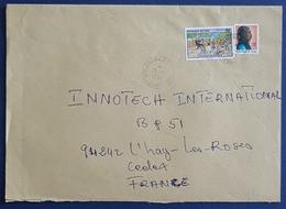 1992 Covers, N'djamena Chad - Innotech L'Hay Les Roses France, Ivory Coast, Par Avion - Chad (1960-...)