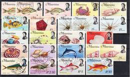 Mauritius 1969 Complete Set Of Marine Life Definitives Overcomplete Mi 331-348X Wmk. 6 Used O, I Sell My Collection! - Maurice (1968-...)