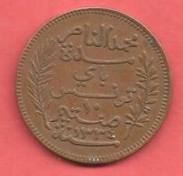 10 Centimes , TUNISIE , Bronze , 1916 A , N° KM # 236 - Kolonies